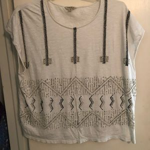 Lucky Brand Beaded Shirt